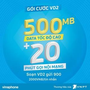 Đăng ký gói VD2 Vinaphone