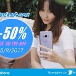 Vinaphone khuyến mãi 50% giá trị thẻ nạp EZpay ngày 5/9/2017